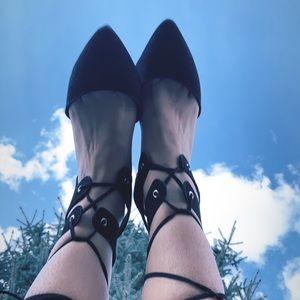Lace-up Sandals.